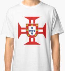 Portuguese Templar Cross with Shield Classic T-Shirt
