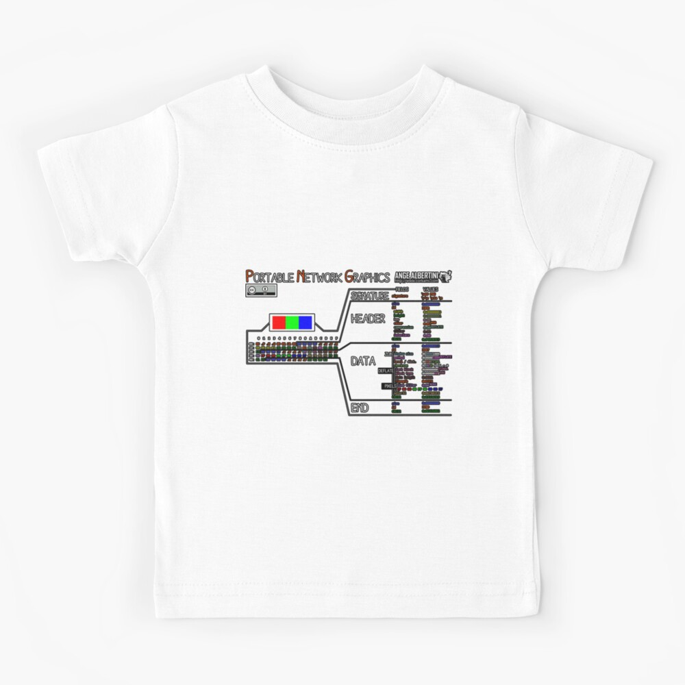 a mini PNG (white text) Kids T-Shirt