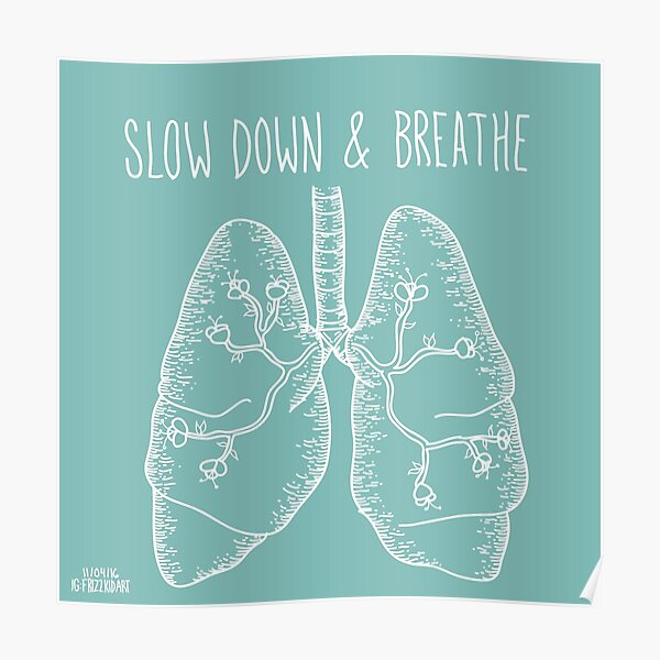 Slow Down & Breathe Poster