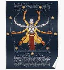 Vitruvian Omnic - color version Poster