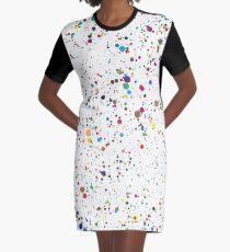 bunte Farbe Splatter Konfetti T-Shirt Kleid