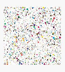 colorful paint splatter confetti Photographic Print