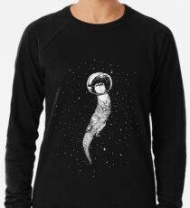 Drifting in Otter Space (best for color) Lightweight Sweatshirt