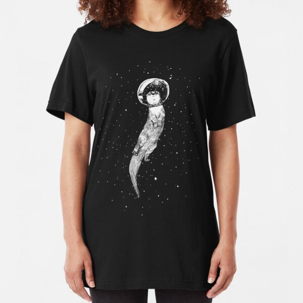 Drifting in Otter Space (best for color) Slim Fit T-Shirt