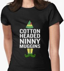 Cotton Headed Ninny Muggins Funny Christmas Costume Womens Fitted T-Shirt