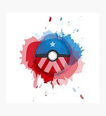 Marvel's Captain America - Pokeball - Abstract Photographic Print