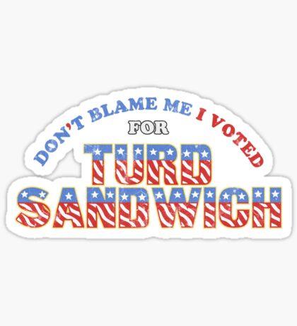 Don't Blame Me... Sticker