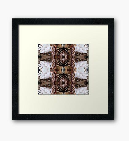 Fractal pattern  in earht colors  By Annabellerockz Framed Print