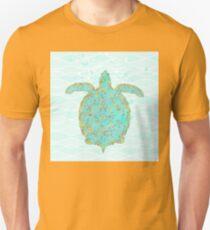 Tucker Turtle, swimming sea turtle coastal art Unisex T-Shirt