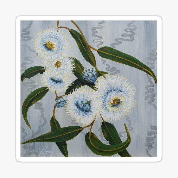 Blue Gum Blossoms Sticker