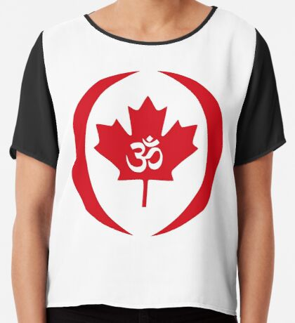 Hindu Canadian Multinational Patriot Flag Series Chiffon Top