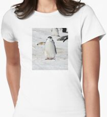 "Chinstrap Penguin  ~  ""Traffic Cop on Point Duty"" Womens Fitted T-Shirt"