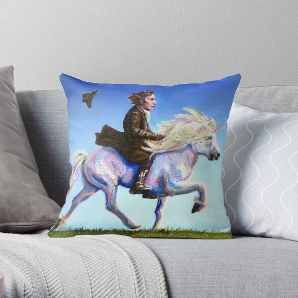 Alan Rickman Rides Again Throw Pillow