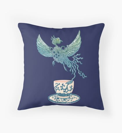 Phoenix Tea Throw Pillow
