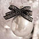 White Christmas Ornament by Kelly McKee