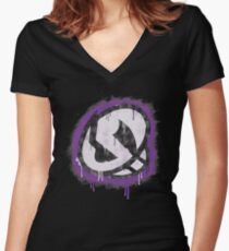 Team Skull Women's Fitted V-Neck T-Shirt