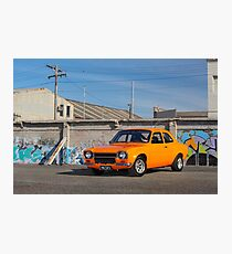 Orange Ford Escort Mk1 Photographic Print