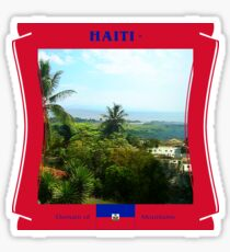 Haiti - Domain of  Mountains Sticker