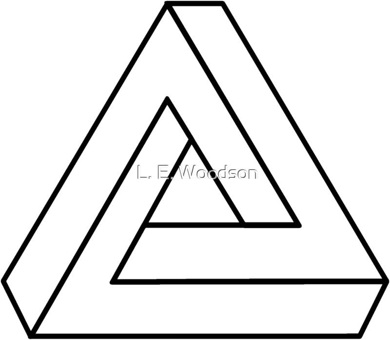 """The Impossible Penrose Triangle - Optical Illusion Tribar ..."