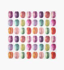 French Macaron Watercolor Print Scarf