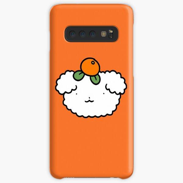 Orange Fruit Fluffy Dog Face Samsung Galaxy Snap Case