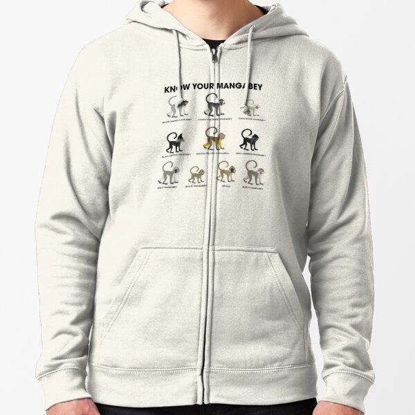 Know Your Mangabey Zipped Hoodie