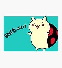 Catbug - Adventure Time - Evil Parody Photographic Print