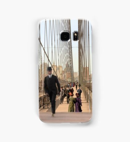 Brooklyn Bridge, New York, 1905 — Colorized Samsung Galaxy Case/Skin