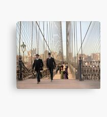 Brooklyn Bridge, New York, 1905 — Colorized Metal Print