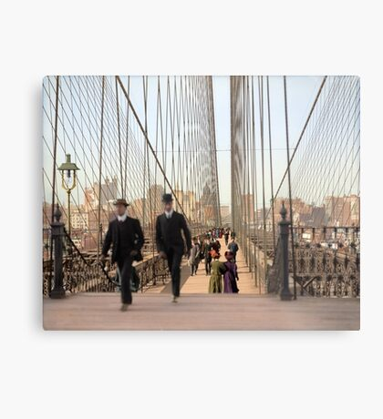 Brooklyn Bridge, New York, 1905 — Colorized Metal Print