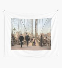 Brooklyn Bridge, New York, 1905 — Colorized Wall Tapestry