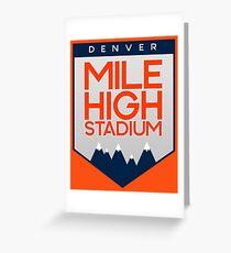 Mile High Stadium Greeting Card