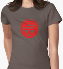 Westworld Samurai World Red Symbol Womens Fitted T-Shirt