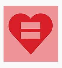 Equal Love Heart Photographic Print