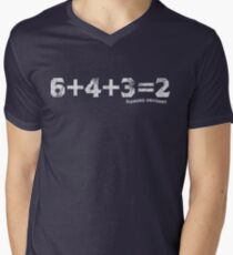 6+4+3=2 Men's V-Neck T-Shirt