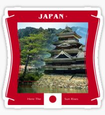 Japan - Here The Sun Rises Sticker