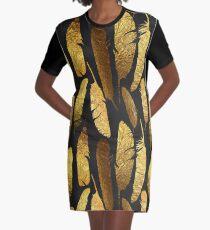 - Golden feathers - Graphic T-Shirt Dress