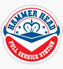 Hammer Head Garage - Full Service Station Sticker