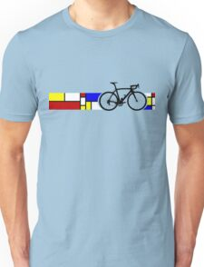 Bike Stripes Mondrian Unisex T-Shirt