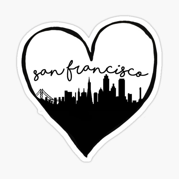 San Francisco, California City Love Sticker