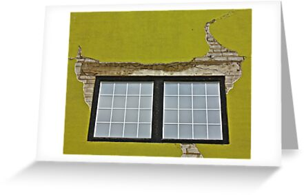 Stucco and Squares by Linda Bianic