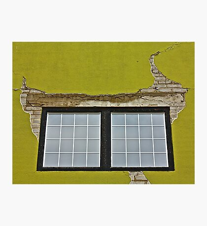 Stucco and Squares Photographic Print