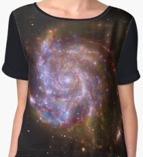 Spiral Galaxy Outer Space Chiffon Top