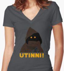 Utinni! Women's Fitted V-Neck T-Shirt