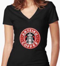 Camiseta entallada de cuello en V Anteiku