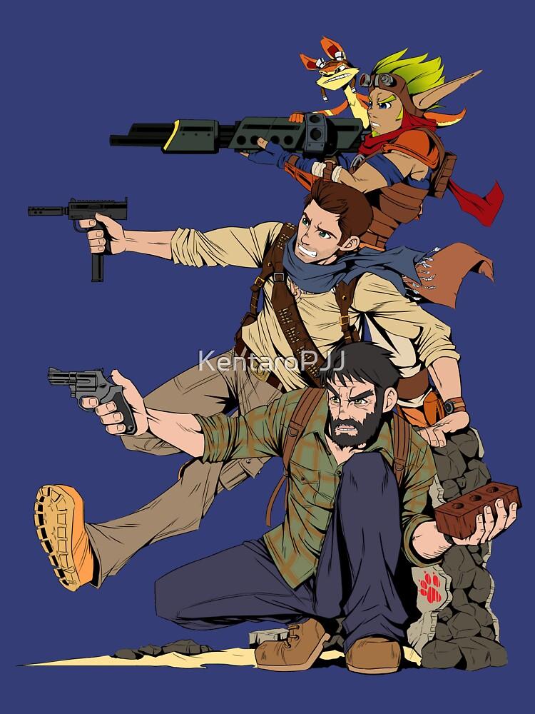 Naughty Dog - Drake, Joel, Jak | Unisex T-Shirt