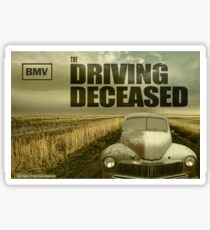 Driving Deceased Sticker