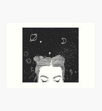 TUMBLR GIRL SPACE Art Print