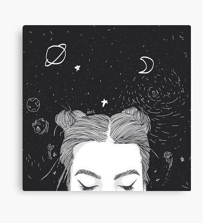 TUMBLR GIRL SPACE Canvas Print