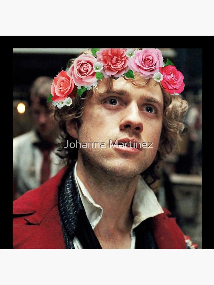 Enjolras con una corona de flores de jojoballz